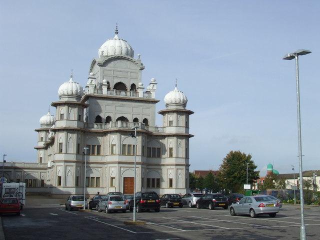 Guru Nanak Gurdwara temple, Bedford
