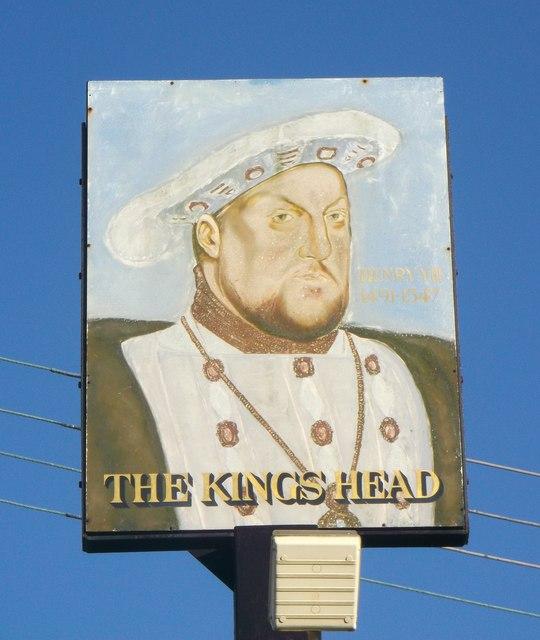 The King's Head, Pub Sign, West Tilbury