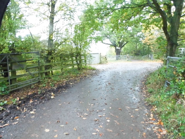 Private road to Barwell Court Farm by the A3, Claygate