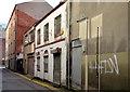 """J3474 : Former """"Chimes"""" restaurant, Belfast (2) by Albert Bridge"""