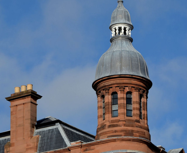 Turret and chimneys, Ulster Reform Club, Belfast