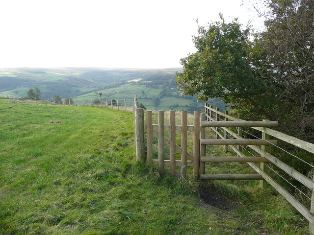 New gate on Hebden Royd Footpath 59