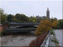 NS5666 : Partick Bridge, River Kelvin by Jim Barton