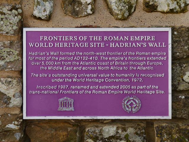 Hadrian's Wall Heritage Plaque