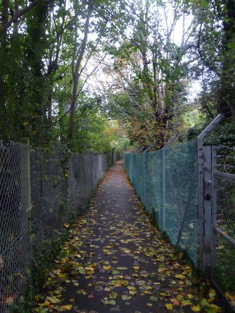 Footpath alongside railway line