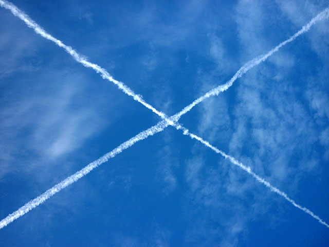 Saltire above Great Close Hill