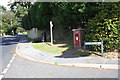 SY3493 : Letter Box at Timber Hill/Charmouth Road junction by Roger Templeman