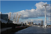 TQ3980 : Emirates cable car & O2 Arena by Oast House Archive