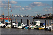 TQ3979 : Pontoon at North Greenwich by Oast House Archive