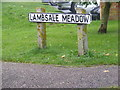 TM3863 : Lambsale Meadow sign by Adrian Cable