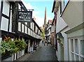 SO7137 : Church Lane, Ledbury by John Allan