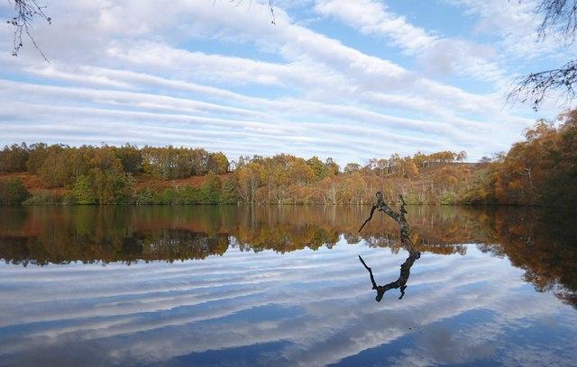 Autumn reflections, on Loch a' Chlarain