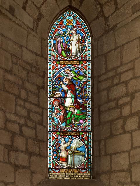 Lanercost Priory, Memorial Window to John Addison