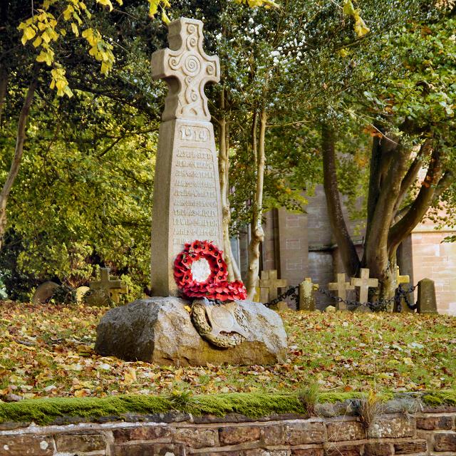 War Memorial and Church, Holme Eden