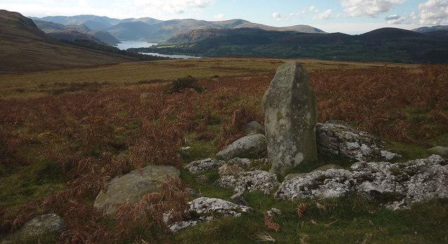 Boundary stone on Heughscar Hill