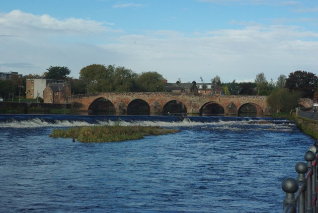 Old bridge and weir