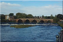 NX9676 : Old bridge and weir by Fractal Angel
