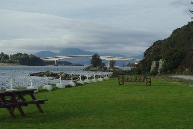 Skye bridge, as viewed from the Lochalsh Hotel