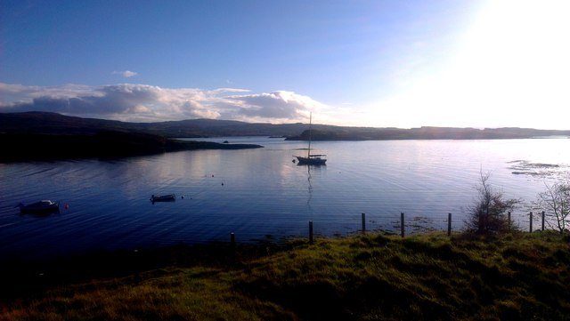 Dawn view over Loch Dunvegan