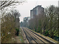 TQ4572 : Railway towards Sidcup by Robin Webster
