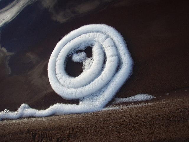 Foam spiral on Loch Sguod