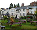 SO5924 : Picnic benches, Hope & Anchor, Ross-on-Wye by Jaggery