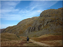 NY2201 : In step with the Romans through Hardknott Pass by Karl and Ali