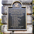 NY9364 : Northumberland Fusiliers Memorial (detail#1) by David Dixon