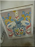 SY7699 : St Martin, Cheselbourne: coat of arms by Basher Eyre
