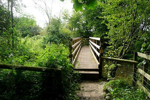 Footbridge across the Windrush