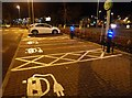 NT4935 : Electric car charge points at ASDA, Galashiels by Walter Baxter