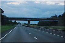SK7964 : Bridge over the A1, Carlton by N Chadwick