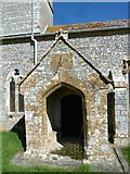 SY7699 : St Martin, Cheselbourne: porch by Basher Eyre