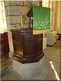 SY7699 : St Martin, Cheselbourne: pulpit by Basher Eyre