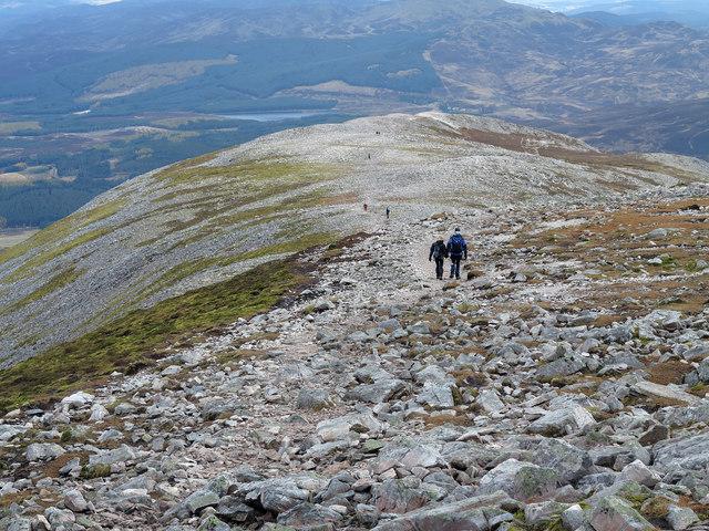 Path on east ridge of Schiehallion