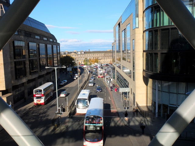 View north down Leith Street