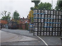 SO9098 : Beer Barrel Rack by Gordon Griffiths