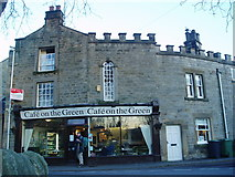 SK2572 : Cafe on the Green, Baslow by Chris Morgan