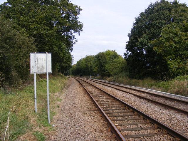 Railway Line at Saxmundham Junction