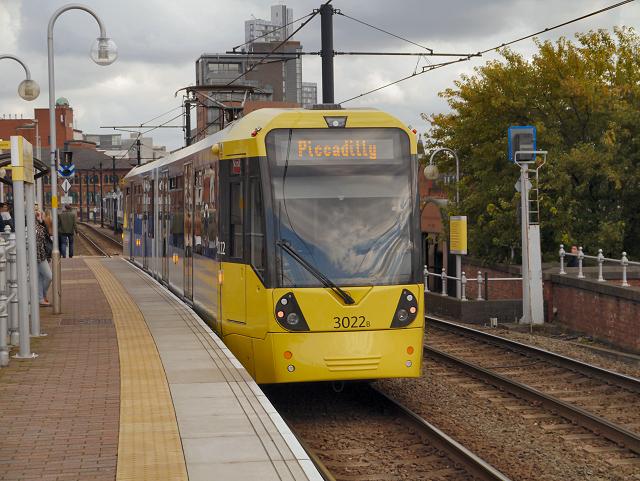 Castlefield-Deansgate Tram Stop (Inbound Platform)