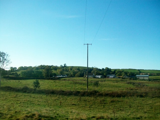 Power lines south of the Lisburn Road in the Townland of Ballykine