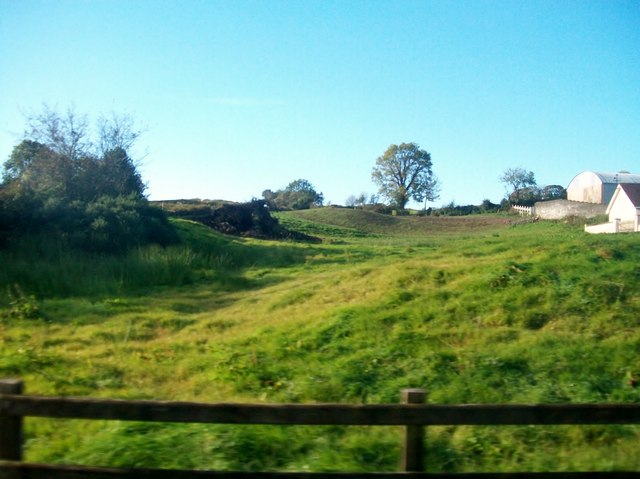 Undulating farmland south of the Ballynahinch Road