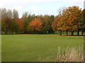 NY4056 : Autumn colours on the Swifts golf course by Oliver Dixon