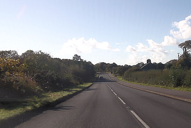 A497 west from cemetery