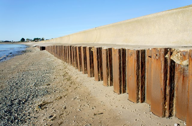 Sea Wall Steel Sheet Piles And 169 Stephen Middlemiss