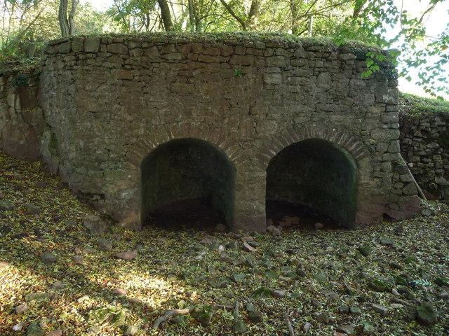 Old lime kilns near Penhein