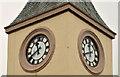 J2891 : Two clocks, Ballyclare by Albert Bridge