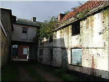 TM3863 : Derelict building, Saxmundham High Street by John Goldsmith