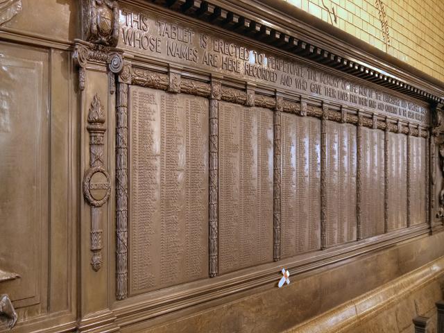 LYR War Memorial, Manchester Victoria Station