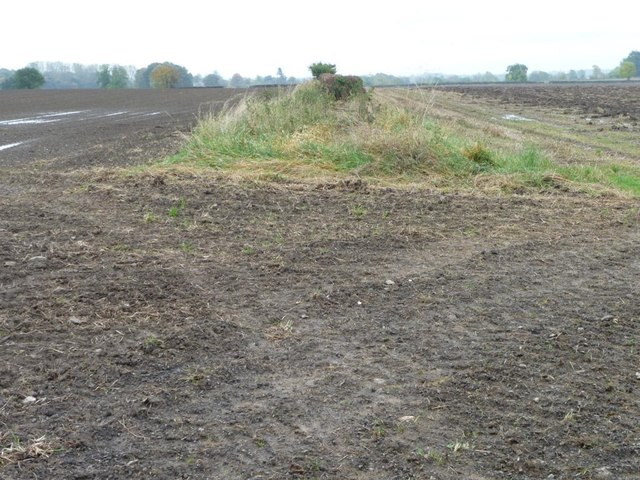 Entrance to two ploughed fields